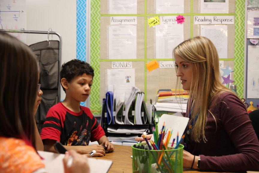 Becky Davis is a third-grade teacher at Samuel Elementary School located in southeast Denver. The principal is Cesar Rivera.